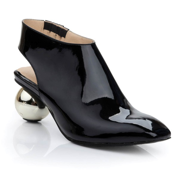 Women's Black Patent Leather Closed Toe #Favs03030471