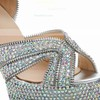 Women's  Real Leather Pumps with Crystal/Crystal Heel #Favs03030482