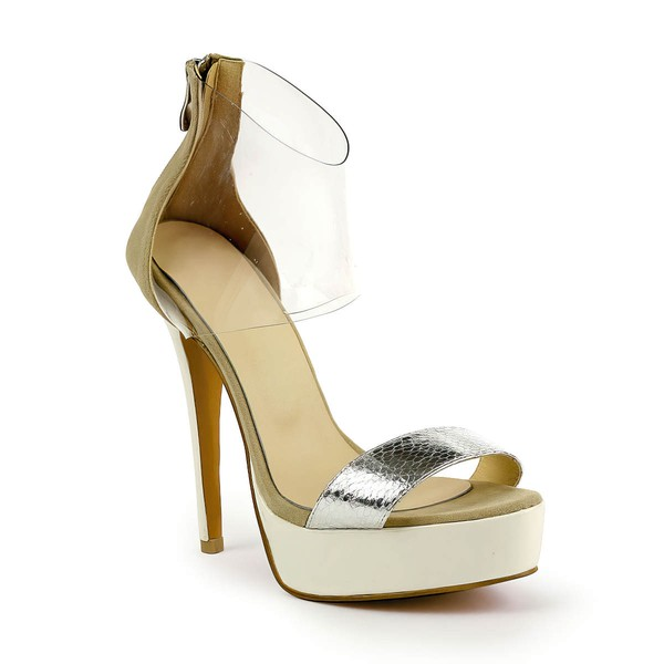 Women's  Patent Leather Pumps with Zipper #Favs03030493