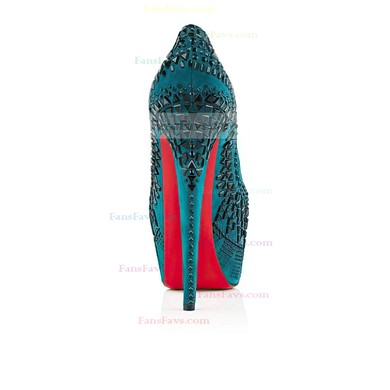 Women's Turquoise Suede Pumps with Rivet #Favs03030520