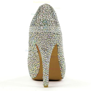 Women's Multi-color Real Leather Pumps with Crystal/Crystal Heel #Favs03030574