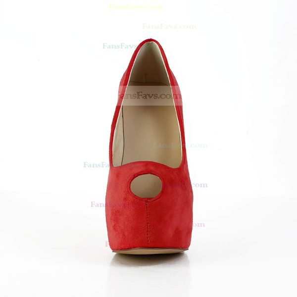 Women's Red Suede Pumps