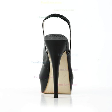 Women's Black Real Leather Pumps #Favs03030586