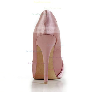 Women's Pink Silk Pumps with Bowknot #Favs03030602
