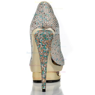 Women's Multi-color Suede Pumps with Crystal/Crystal Heel #Favs03030627
