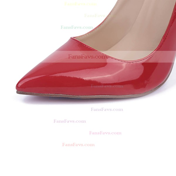 Women's Red Patent Leather Stiletto Heel Pumps