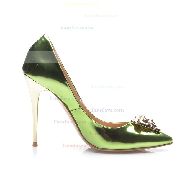 Women's Green Patent Leather Stiletto Heel Pumps