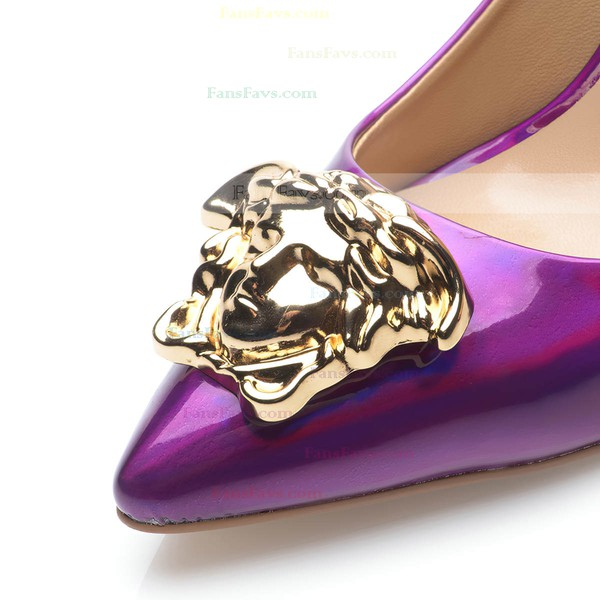 Women's Purple Patent Leather Stiletto Heel Pumps