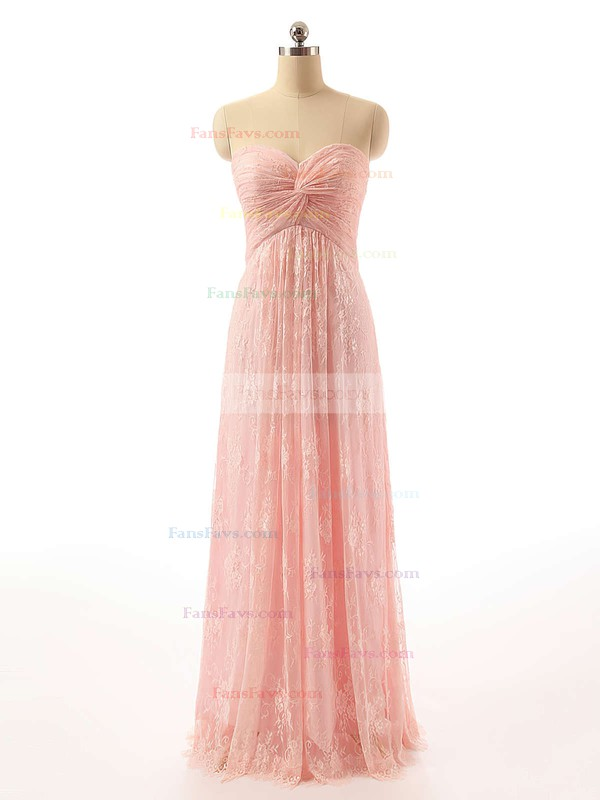 Empire Sweetheart Floor-length Lace Prom Dresses #Favs020102462