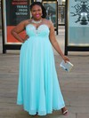 A-line Chiffon Ankle-length Beading prom dress #Favs020105965