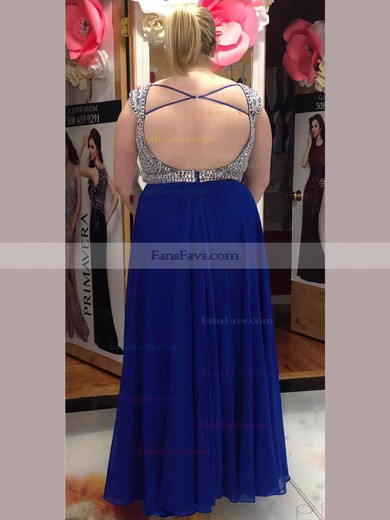A-line Sweetheart Chiffon Floor-length Beading prom dress #Favs020105974