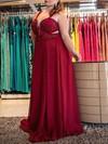 A-line Sweetheart Chiffon Floor-length Beading prom dress #Favs020105984