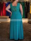 A-line V-neck Chiffon Floor-length Lace prom dress #Favs020105985