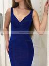 Trumpet/Mermaid V-neck Floor-length Velvet Prom Dresses with Ruffle #Favs020106073