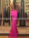 Trumpet/Mermaid Halter Jersey Sweep Train Prom Dresses #Favs020105659