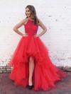 Princess Halter Asymmetrical Organza Prom Dresses with Beading #Favs020103198