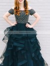 Princess Off-the-shoulder Organza Tulle Sweep Train Beading Prom Dresses #Favs020105730