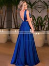 Princess V-neck Satin Floor-length Prom Dresses #Favs020105328