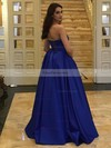 Ball Gown Strapless Satin Floor-length Prom Dresses #Favs020105407