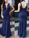 Sheath/Column Scoop Neck Jersey Floor-length Prom Dresses #Favs020104968
