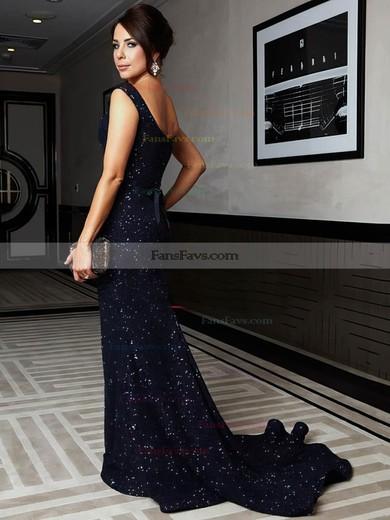Trumpet/Mermaid Square Neckline Sequined Sweep Train Prom Dresses #Favs020104961