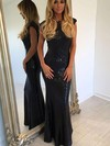 Sheath/Column Scoop Neck Sequined Floor-length Prom Dresses #Favs020105550