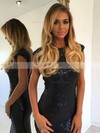 Sheath/Column Scoop Neck Sequined Floor-length Prom Dresses #Favs020105550