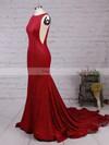 Trumpet/Mermaid Scoop Neck Jersey Court Train Prom Dresses #Favs020103588