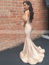 Trumpet/Mermaid V-neck Jersey Sweep Train Ruffles Prom Dresses #Favs020105525