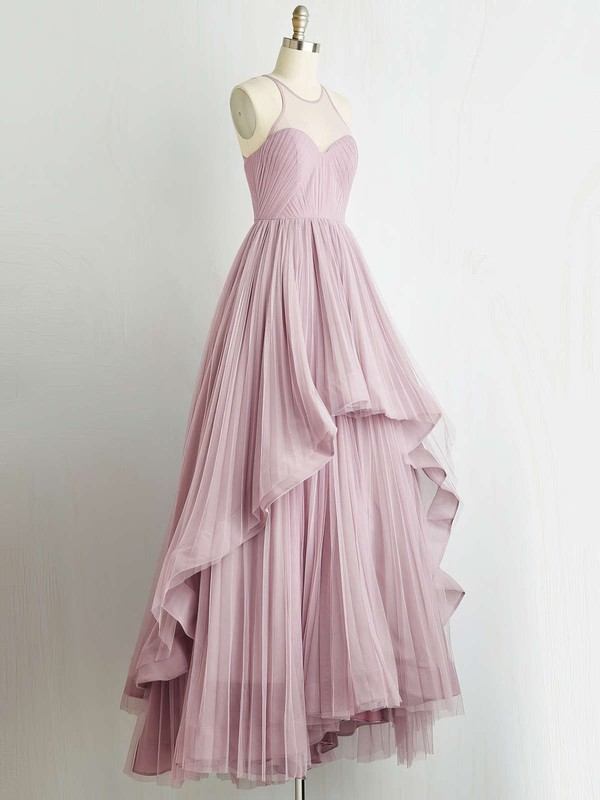 Princess Halter Tulle Floor-length Pleats Prom Dresses #Favs020103607