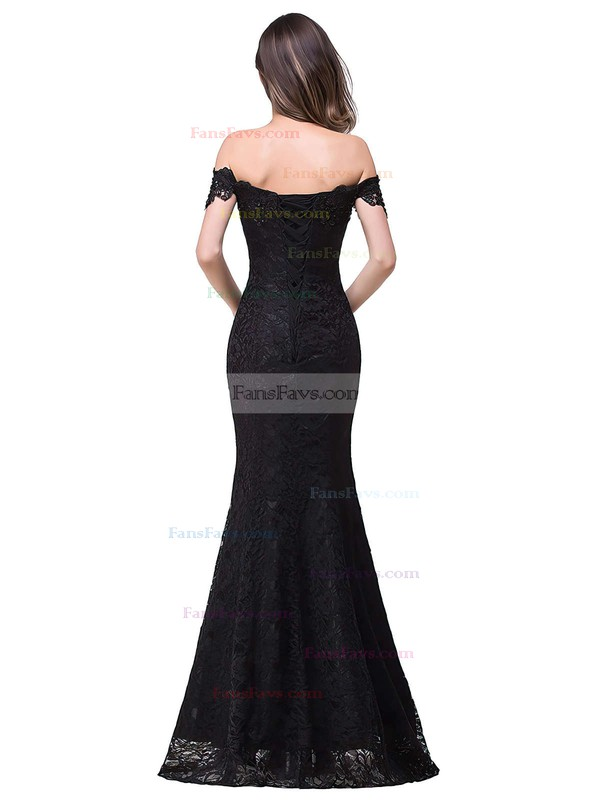 Trumpet/Mermaid Off-the-shoulder Lace Floor-length Beading Prom Dresses #Favs020104153