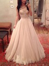 Ball Gown Sweetheart Floor-length Tulle Prom Dresses with Appliques Lace #Favs020104360