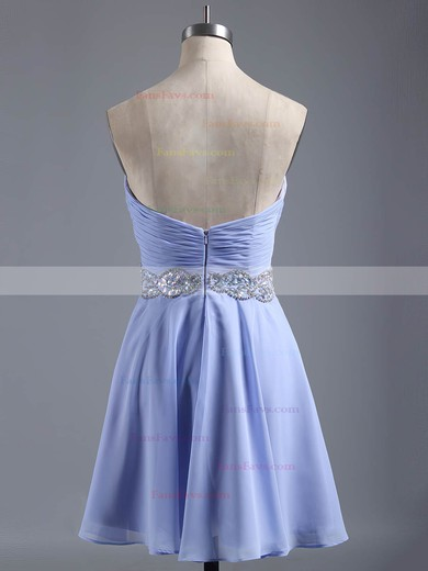 A-line Sweetheart Chiffon Short/Mini Beading Affordable Homecoming Dresses #Favs020101407