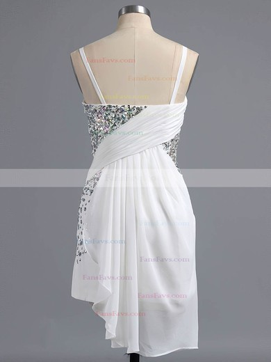 Fashion Sheath/Column Sweetheart Chiffon Crystal Detailing Short/Mini Homecoming Dresses #Favs020101438