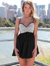 Empire Sweetheart Short/Mini Chiffon Prom Dresses with Pearl Detailing #Favs020102613