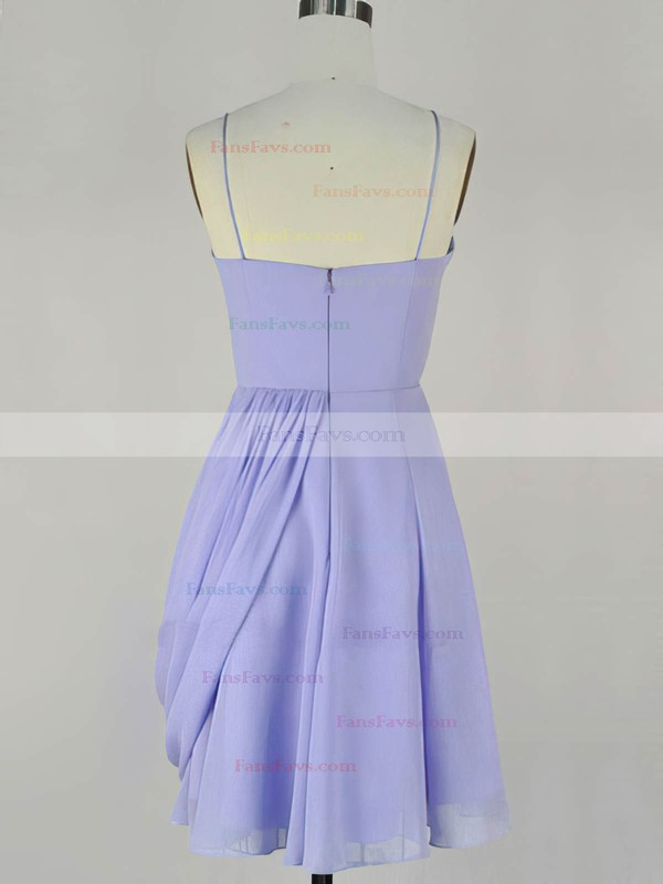 A-line Sweetheart Chiffon Short/Mini with Pleats Prom Dresses #Favs020104140