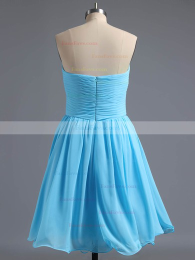A-line Sweetheart Short/Mini Chiffon Prom Dresses with Pleats #Favs02042295