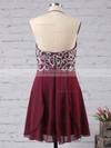 Empire Halter Short/Mini Chiffon Prom Dresses with Beading #Favs02042381