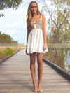Empire Sweetheart Short/Mini Chiffon Prom Dresses with Ruffle Sequins #Favs02042066