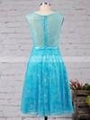 Girls A-line Scoop Neck Lace Appliques Lace Short/Mini Prom Dresses #Favs020102715