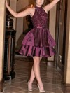 A-line High Neck Taffeta Short/Mini Beading New Arrival Prom Dresses #Favs020103470