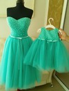 Elegant Sweetheart Tulle with Pearl Detailing Knee-length Prom Dresses #Favs020102040
