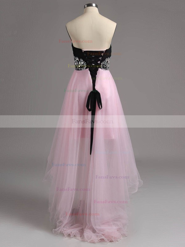 A-line Sweetheart Tulle Asymmetrical Crystal Detailing Homecoming Dresses #Favs02015302