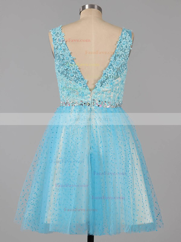 Ball Gown Square Neckline Tulle Short/Mini Beading Homecoming Dresses #Favs02019155