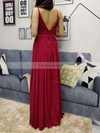 A-line V-neck Chiffon Floor-length Sashes / Ribbons Prom Dresses #Favs020105036