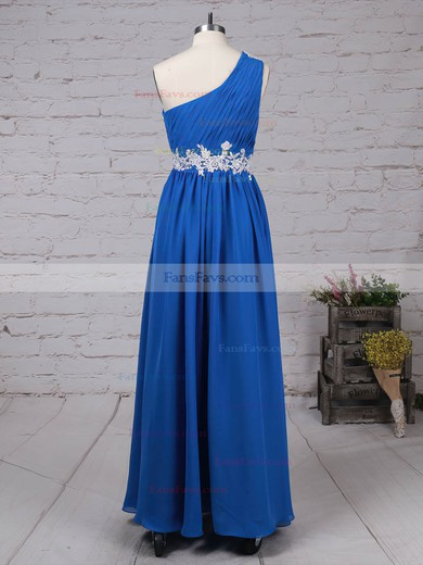 Empire One Shoulder Chiffon Floor-length Beading Prom Dresses #Favs020105040