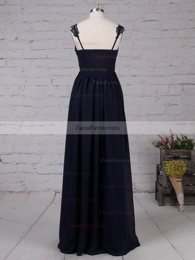 Empire V-neck Chiffon Floor-length Appliques Lace Prom Dresses #Favs020105081