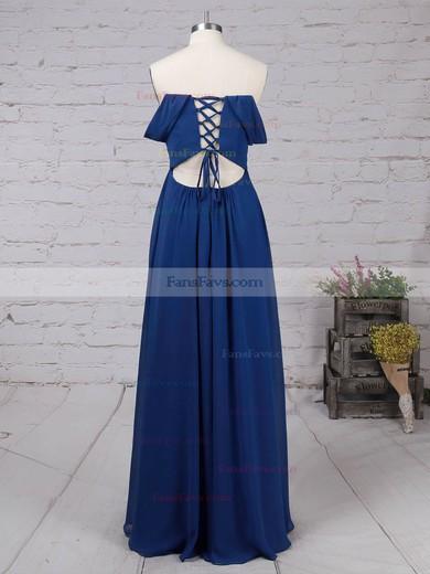 A-line Off-the-shoulder Chiffon Floor-length Ruffles Prom Dresses #Favs020105083