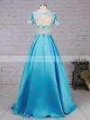 Ball Gown Scoop Neck Satin Tulle Floor-length Beading Prom Dresses #Favs020105140
