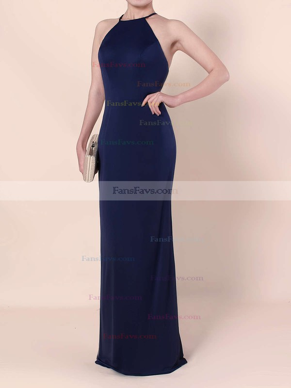 Sheath/Column Scoop Neck Jersey Floor-length Prom Dresses #Favs020104474